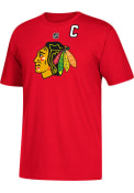 Jonathan Toews Chicago Blackhawks Red Name and Number Player Tee
