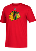 Marian Hossa Chicago Blackhawks Red Name and Number Player Tee