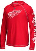 Detroit Red Wings Adidas Journeyman Hood - Red