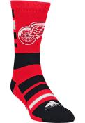 Detroit Red Wings Adidas Jersey Stripe Crew Socks - Red