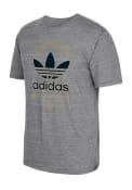 Adidas Philadelphia Union Grey screen print Fashion Tee