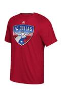 Adidas FC Dallas Red screen print Tee