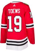Jonathan Toews Chicago Blackhawks Adidas 2017 Home Authentic Hockey Jersey - Red