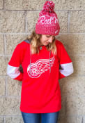 Detroit Red Wings Womens Adidas Jersey Crewdie Hooded Sweatshirt - Red