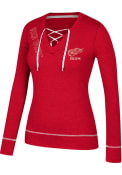 Adidas Detroit Red Wings Womens Red CCM Well Matched T-Shirt
