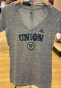 Adidas Philadelphia Union Womens Grey Roughed Up V-Neck