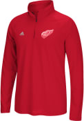 Detroit Red Wings Adidas Ultimate 1/4 Zip Pullover - Red