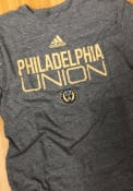 Philadelphia Union Adidas Locker Stacked Fashion T Shirt - Grey