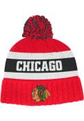 Chicago Blackhawks Adidas Culture Cuff Pom Knit - Red