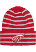 Detroit Red Wings Adidas Striped Up Knit - Red