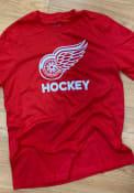 Detroit Red Wings Adidas Hockey Club T Shirt - Red