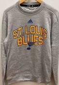 St Louis Blues Adidas Team Issue Legend Sweatshirt - Grey