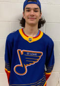 St Louis Blues Adidas 2019 Throwback Authentic Hockey Jersey - Blue