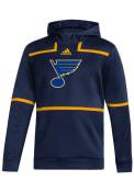 St Louis Blues Adidas Under the Lights Hood - Navy Blue
