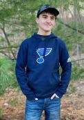 St Louis Blues Adidas Team Logo Hooded Sweatshirt - Navy Blue