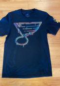 St Louis Blues Adidas Neon Sign T Shirt - Black