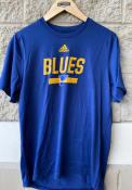 St Louis Blues Adidas Multi Faceted T Shirt - Navy Blue