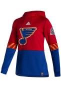 St Louis Blues Womens Adidas Reverse Retro Hooded Sweatshirt - Red