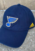 St Louis Blues Adidas Slouch Adjustable Hat - Navy Blue