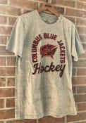 Columbus Blue Jackets Adidas Rink Arch T Shirt - Grey