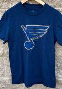 St Louis Blues Adidas String Theory T Shirt - Navy Blue