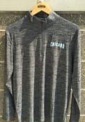 Colosseum Chicago Grey Wordmark Long Sleeve 1/4 Zip Pullover