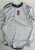 Illinois Fighting Illini Colosseum Bart T Shirt - Grey