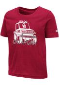 Oklahoma Sooners Toddler Colosseum Trucker T-Shirt - Crimson