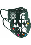 Colosseum Michigan State Spartans Ugly Sweater Fan Mask - Green