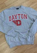 Dayton Flyers Colosseum Stadium Crew Sweatshirt - Grey