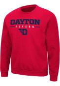 Dayton Flyers Colosseum Time Machine Crew Sweatshirt - Red
