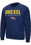 Drexel Dragons Colosseum Time Machine Crew Sweatshirt - Navy Blue