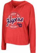 Dayton Flyers Womens Colosseum Cody Meet and Greet Hooded Sweatshirt - Red