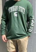 Colosseum Michigan State Spartans Green Jackson Tee