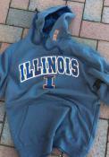 Illinois Fighting Illini Colosseum Manning Hooded Sweatshirt - Charcoal