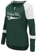 Colosseum Michigan State Spartans Womens Routine Scoop Neck Tee