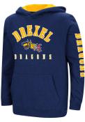 Drexel Dragons Youth Colosseum Berminator Hooded Sweatshirt - Navy Blue