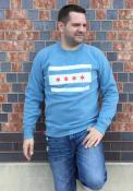 Chicago Flag Crew Sweatshirt - Light Blue