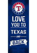 Texas Rangers 18x7 Love You To…And Back Wall Art