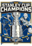 St Louis Blues 2019 Stanley Cup Champions Unframed Poster