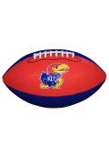 Kansas Jayhawks Grip Tech Rubber Football