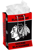 Chicago Blackhawks Team Color Medium Black Gift Bag