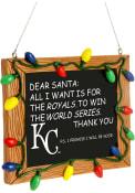 Kansas City Royals Chalkboard Sign Ornament