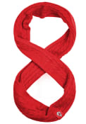 Kansas City Chiefs Womens Soft Cable Knit Scarf - Red