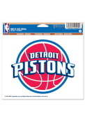 Detroit Pistons 5x6 Multi Use Auto Decal - Red