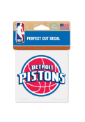 Detroit Pistons 4x4 Perfect Cut Auto Decal - Red