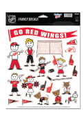 Detroit Red Wings 8.5x11 Family Pack Auto Decal - White