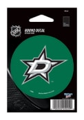 Dallas Stars 3x3 Round Auto Decal - Green