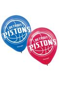 Detroit Pistons 12 Inch 6 Pack Latex Balloon