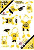 Wichita State Shockers 5x7 Family Pack Auto Decal - Yellow